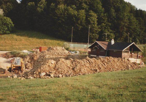 Začetki gradnje Squasha 1990